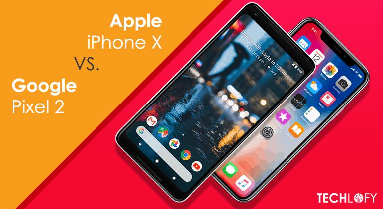 Apple iPhone X beats Google Pixel 2