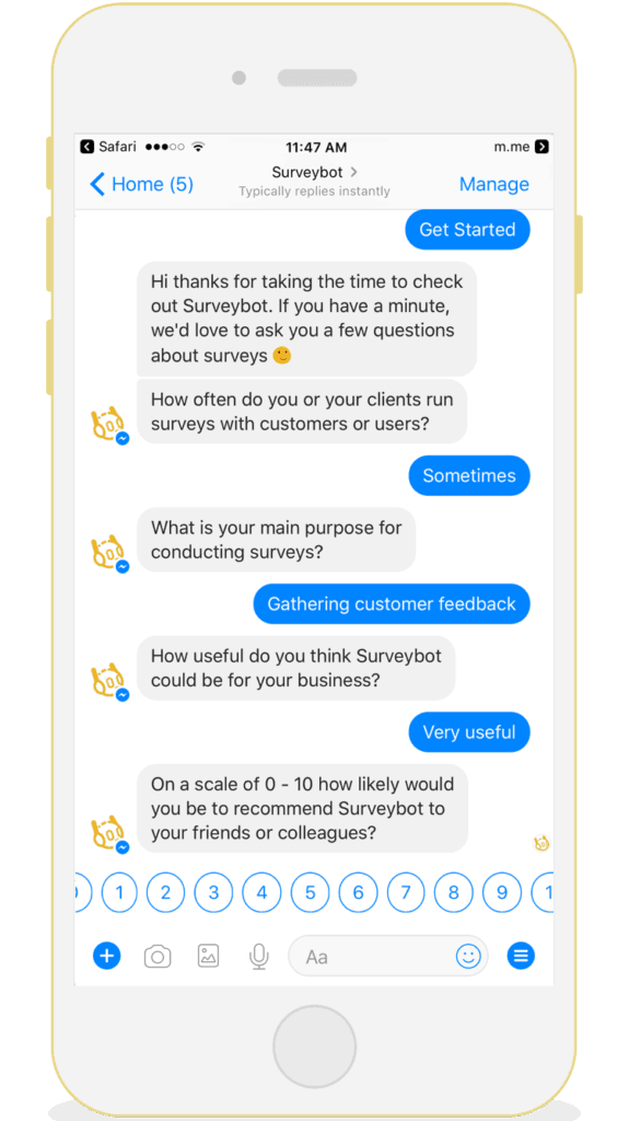 Use Chatbots to Collect Feedbacks and Reviews from Customers