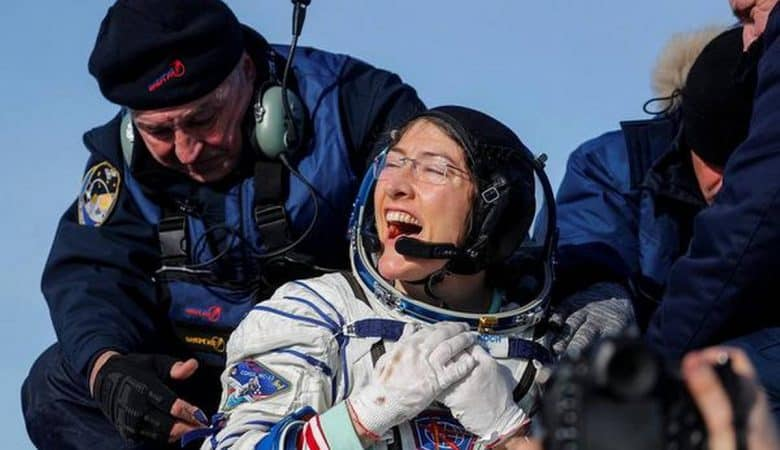 NASA astronaut Christina Koch returns to Earth after record-setting stay in space
