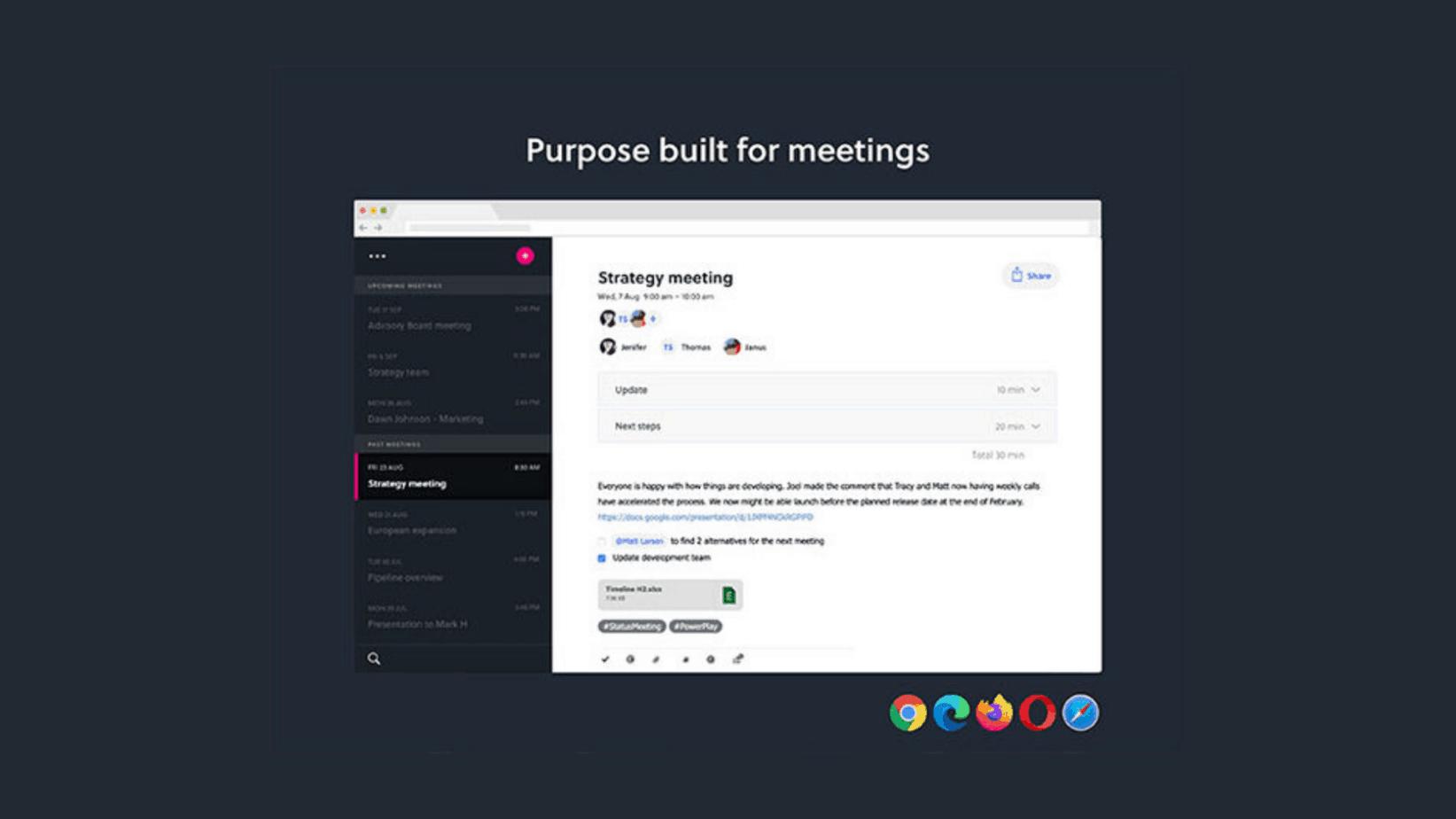 Pinstriped Meeting Tool Techlofy