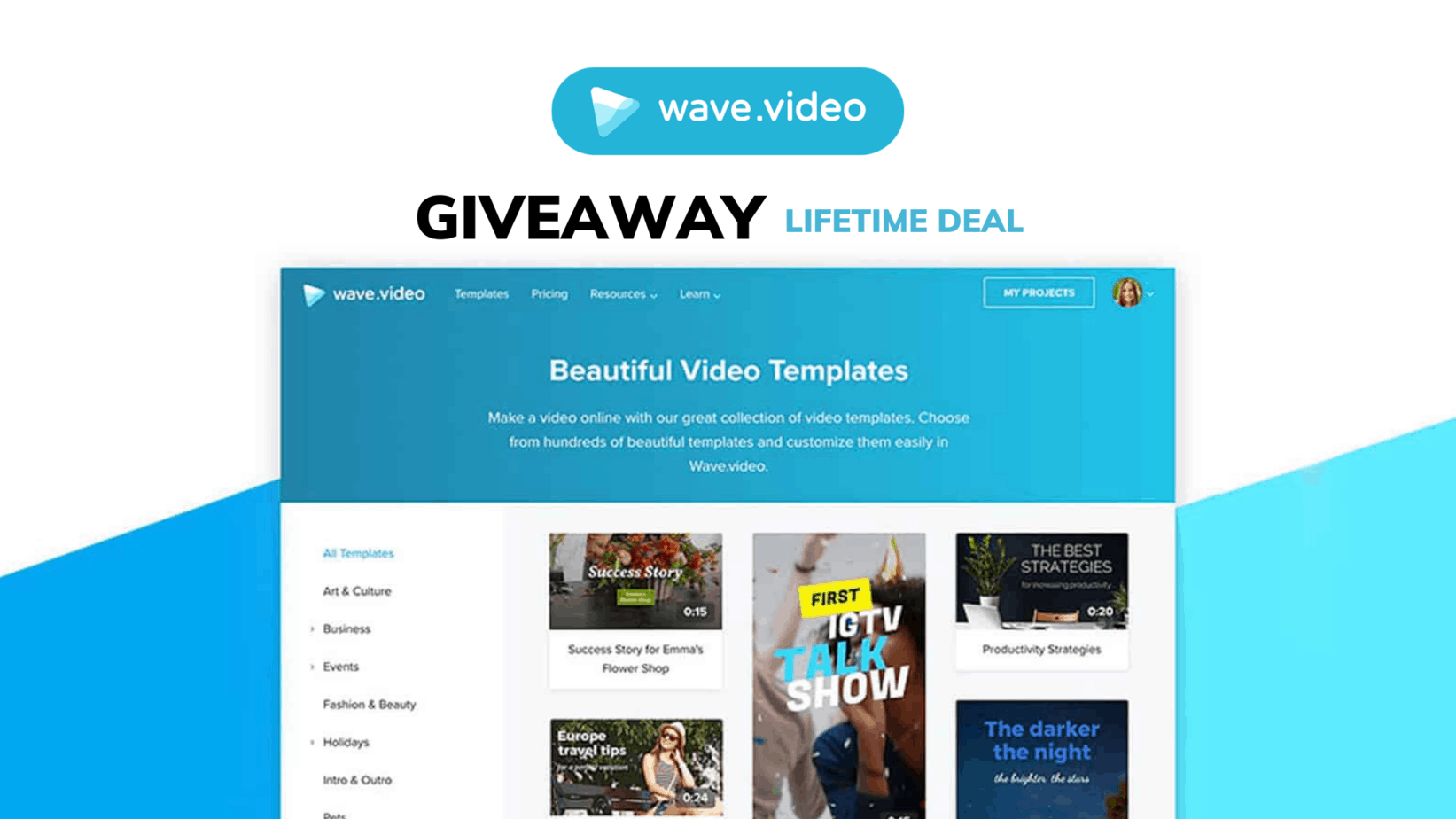 wave video giveaway