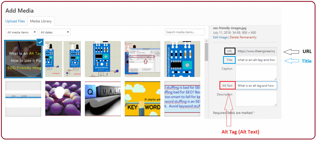 Make use of intelligent, SEO friendly Alt text