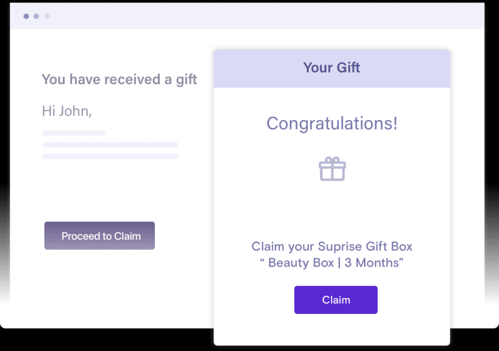 Offer an incentive for a subscription