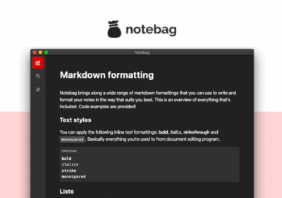 Notebag: Organize your Notes without getting distracted, on sale for just $13 4