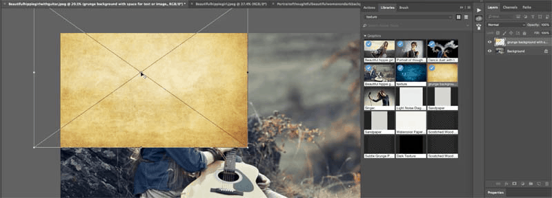 adobe photoshop hack 1- use different image as texture