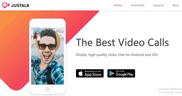 video calling app 10- JusTalk