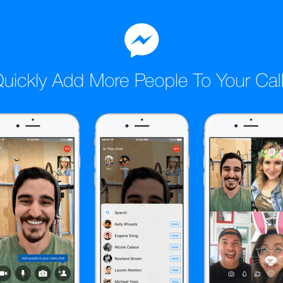video calling app 3- facebook messenger