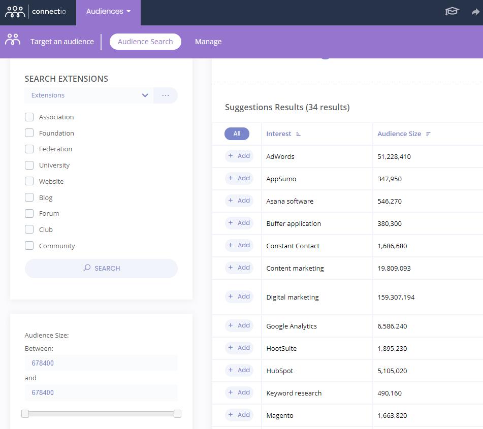 Connect Explore Features