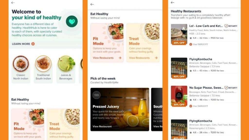 health hub (the app)