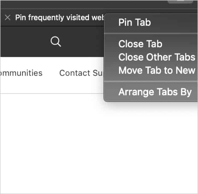 use safari efficiently (pin tab