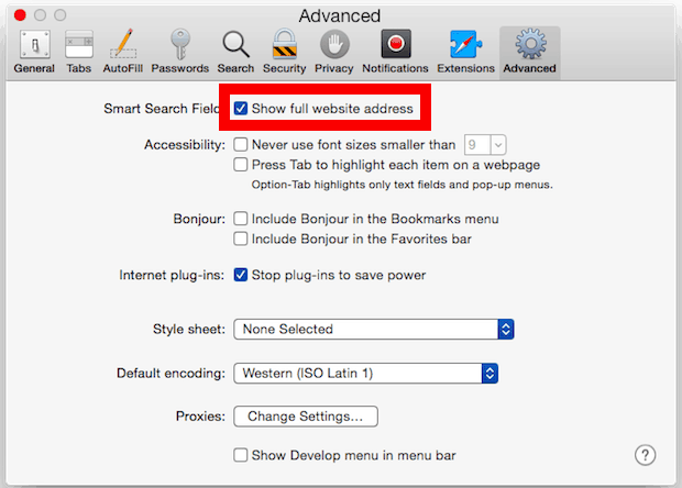 use safari efficiently (view complete url
