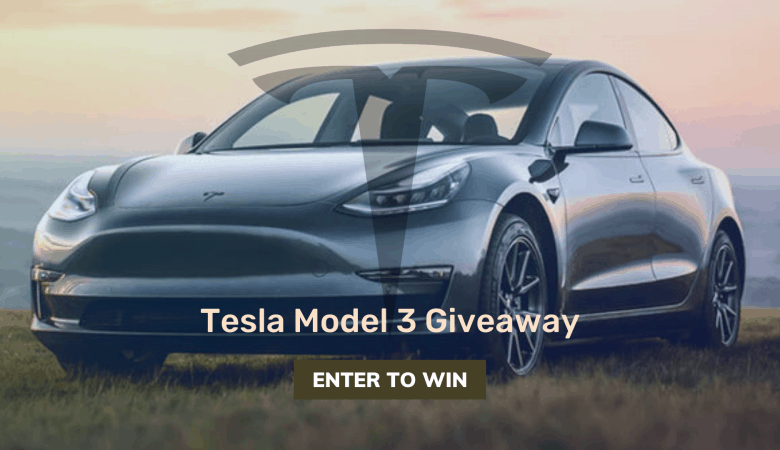 Enter this Giveaway for a Chance to Win a Tesla Model 3 7