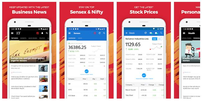 top apps for stock market (economic times