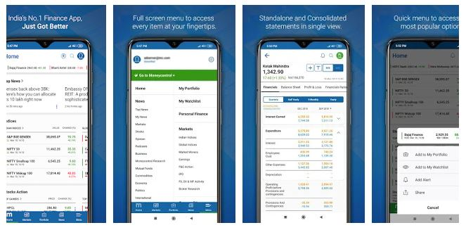 top apps for stock market (moneycontrol