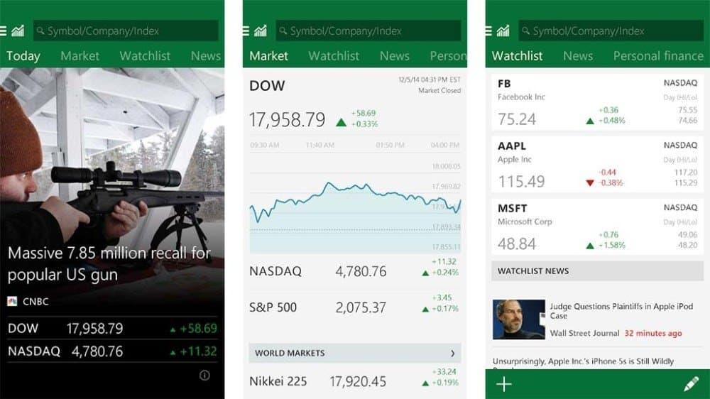 top apps for stock market (msn money