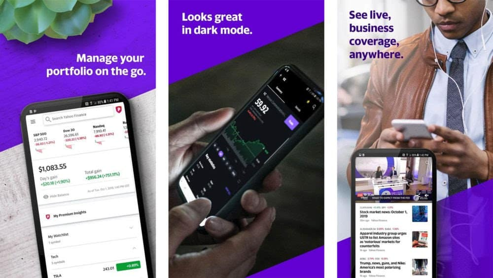top apps for stock market (yahoo finance