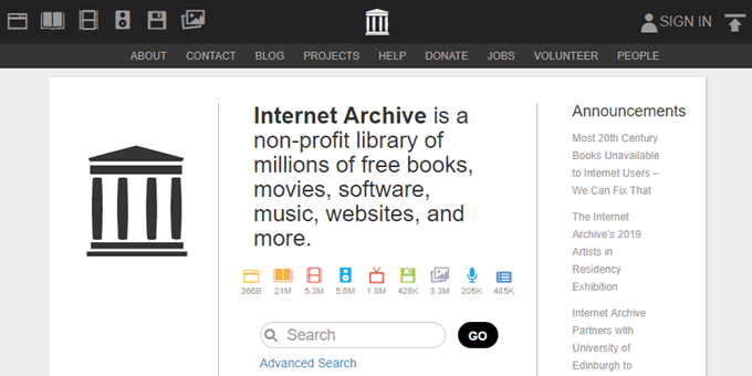 top digital Libraries(internet archive