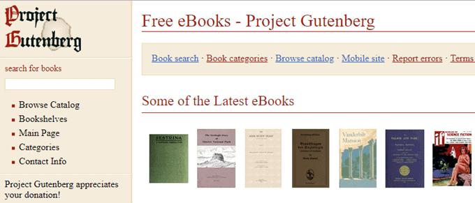 top digital Libraries(project Gutenberg