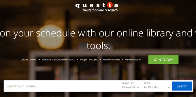 top digital Libraries(questia