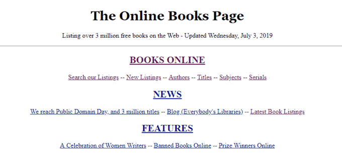 top digital Libraries(the Online Books Page
