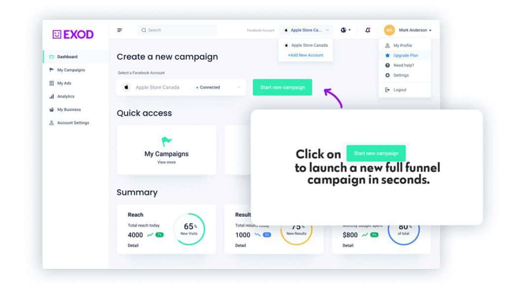 Launch, Test, and Optimize Facebook Ad Campaigns fully Automatically with EXOD 4