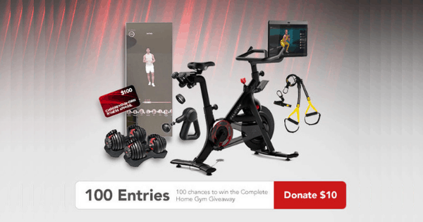 Win the Complete Home Gym Giveaway Ft. Peloton & Donate to Charity 4