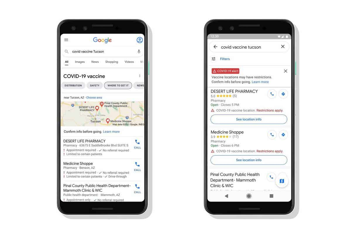 Google plans vaccination clinics at some of its sites