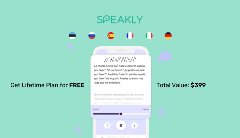 Speakly (Learn 8 Languages the Fastest Way): Lifetime Deal Giveaway (worth $399) 4
