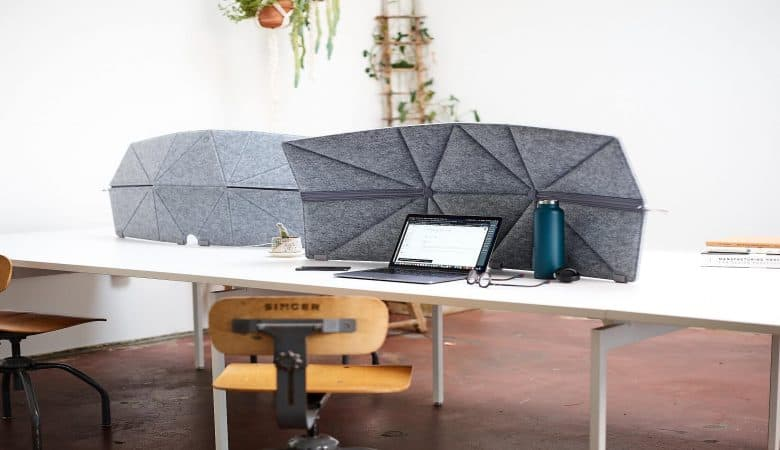 The Fort Freestanding Divider for Desks