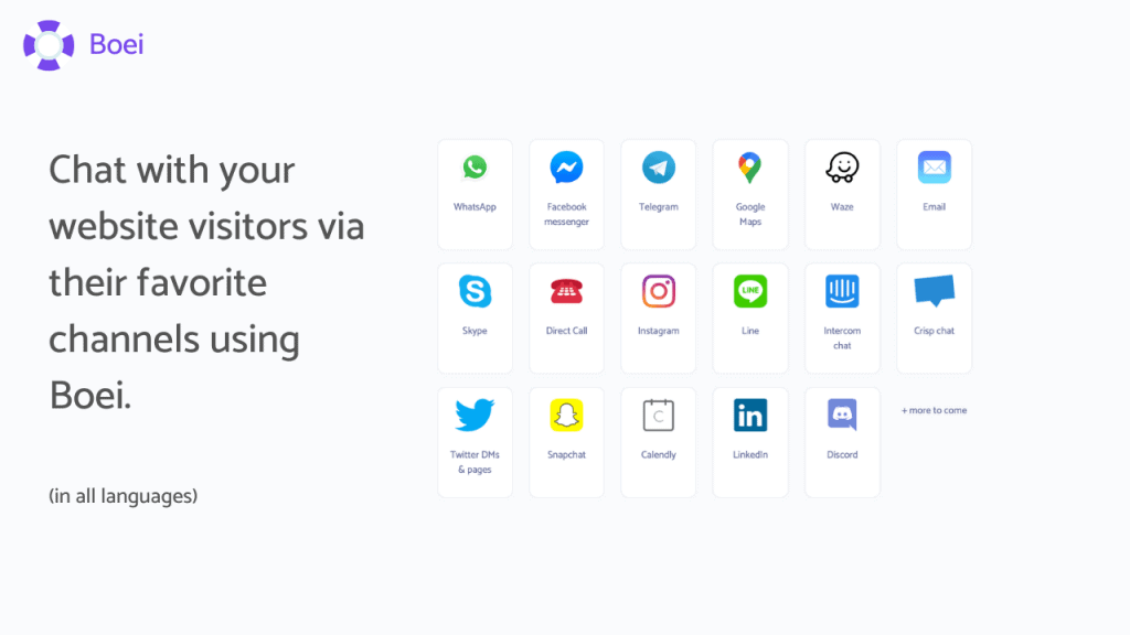 Connect With Your Favorite Channels And Generate Leads On Autopilot With Boei 2
