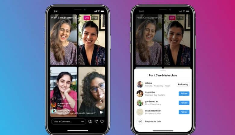 Instagram's new Live Rooms lets you go live with three other people