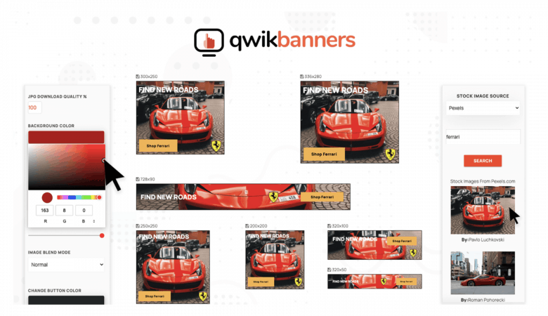 Automate your Banner Creation by Generating 10 Sizes at Once with QwikBanners 7