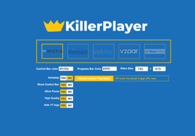 Unlimited Professional Free Hosting for your Videos with KillerPlayer 4