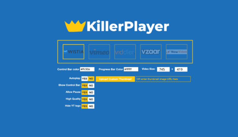 Unlimited Professional Free Hosting for your Videos with KillerPlayer 3