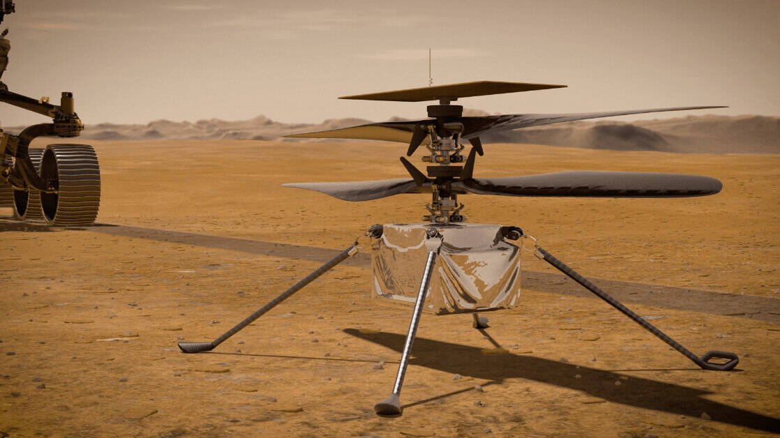 NASA flies an autonomous helicopter on Mars (1)