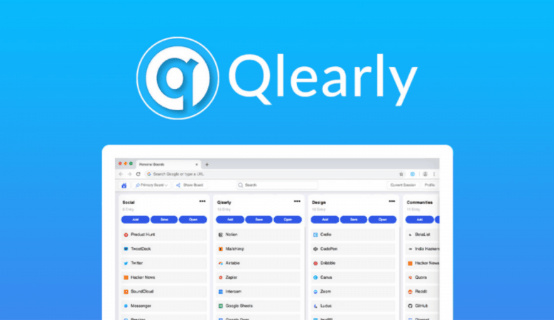Save, Sync & Organize Your Favorite Websites by Columns and Boards with Qlearly 3
