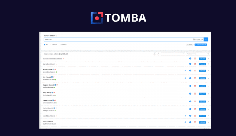 Easily Find the Professional Email Address of Contacts With Tomba 3