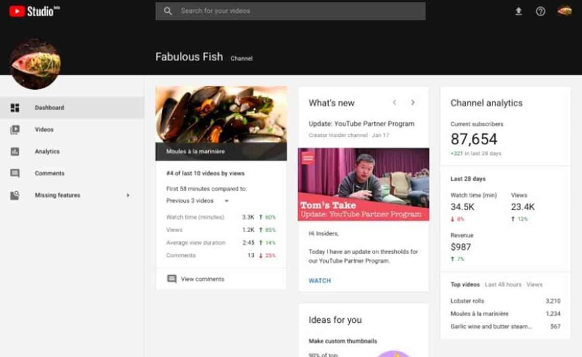 youtube-studio-dashboard