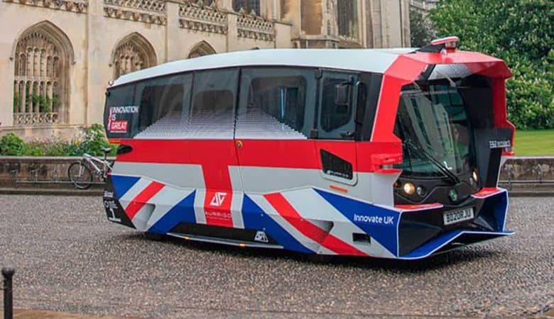 Britain's first self-driving shuttle bus is in the streets