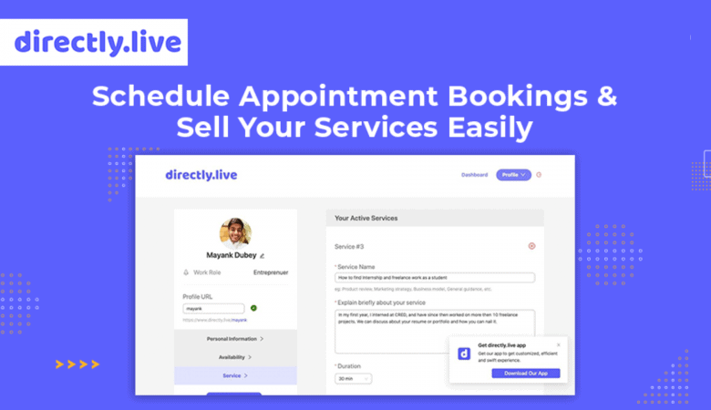 Schedule Appointment Bookings and Sell Your Services Easily with Directly.live 4