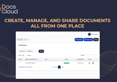 Create, Manage and Share Documents All From One Place With DocsCloud 6