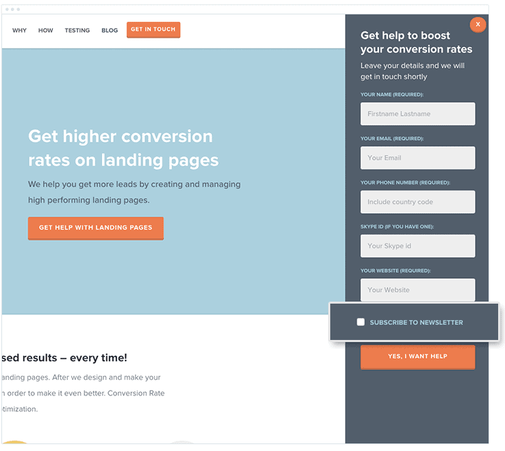 build-email-list-contact-form