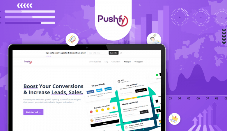 Increase Your Sales Conversions, Drive Leads With Pushfy.me Social Proof & Push Notifications 3