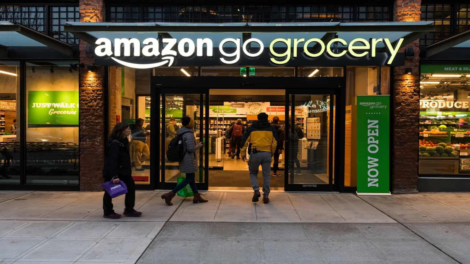Amazon brings its cashierless technology to a grocery store for the first time