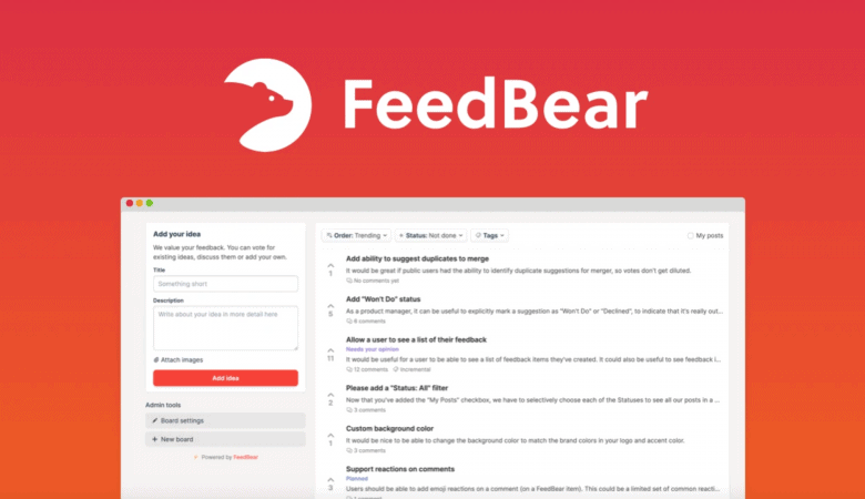 Collect Product Feedback & Start Building The Right Product Today with FeedBear 3