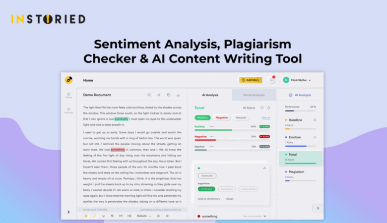 Predict The Sentiment Analysis For The Written Content With Instoried 4
