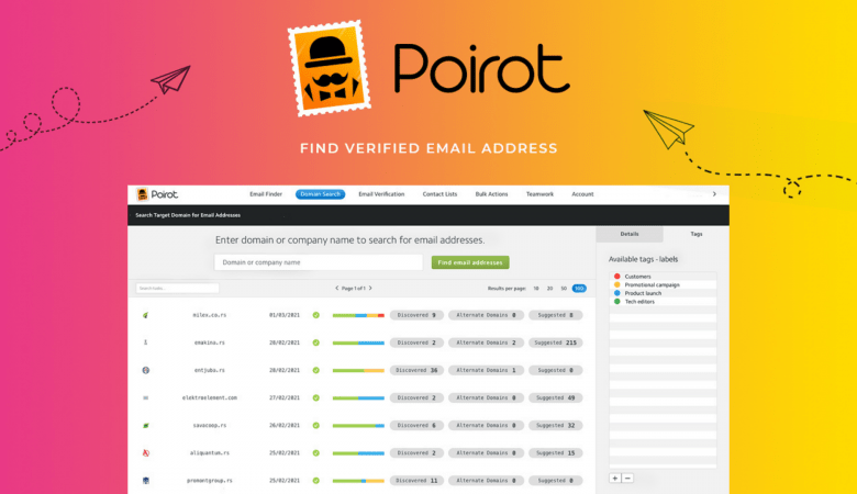 Find Targeted Leads, Verify the Emails & Enrich them in Real-time With Poirot 5