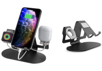 Trio 3-in-1 Aluminum Desktop Charging Stand