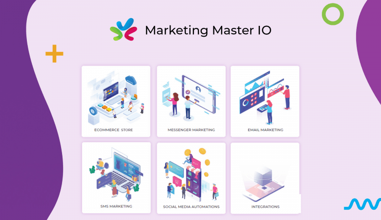 Create Unlimited Chatbot Flows, Live Chat, Ecommerce Stores, Funnels With Marketing Master 5