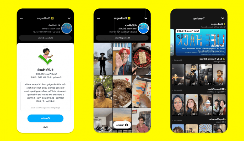 Snapchat is offering prizes to complete spotlight challenges
